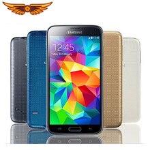 Original desbloqueado Samsung S5 I9600 G900F G900A G900H 5,1 pulgadas 2GB de RAM 16GB ROM Quad Core 3G y 4G 16MP GPS restaurado teléfono móvil