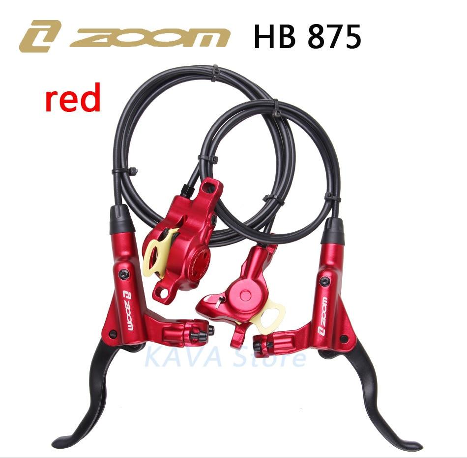 ZOOM HB-875 Mountain Bike Hydraulic Brake Kit 800/1400 mm MTB Bicycle Oil Pressure Disc Brake Set Front and Rear Bike Parts