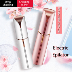 New Brand Electric Eyebrow Trimmer Makeup Painless Eye Brow Epilator Mini Shaver Razors Portable Facial Hair Remover for Women