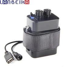 Lanbeika diy電源銀行防水 6/4*18650 バッテリーバイクledライト収納ボックスケース重層ワイヤーリード充電式