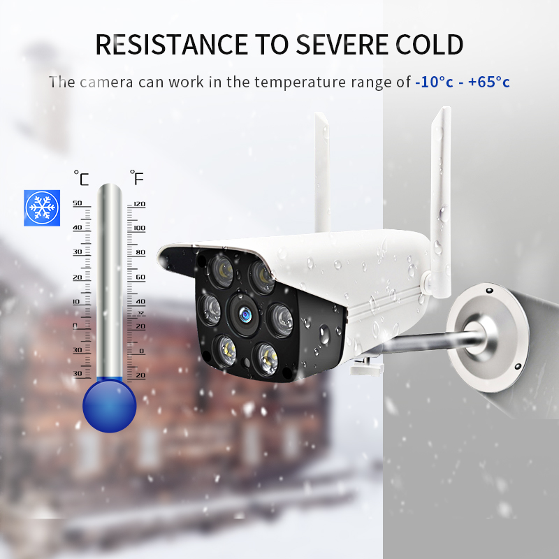 HD Wireless IP Camera Outdoor Waterproof 1080P  LED/IR Light Night Vision Camera WIFI PTZ Security Camera Camera