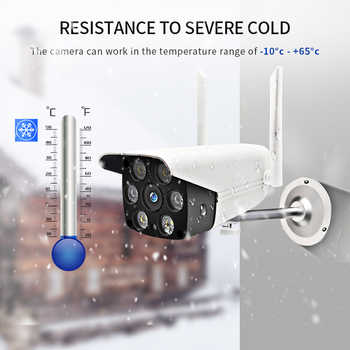 HD sans fil IP caméra extérieure Wifi étanche 1080P infrarouge lampe lumière Vision nocturne PTZ caméra de sécurité Surveillance vidéo