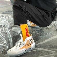 Mens Crew Cotton DHL Express Hip HOP Socks Vetements Style Letter Print Hipster