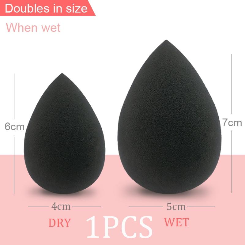 H86e6c9b49564446e950e7b501734120aw Black Makeup Applicator Super Soft Sponge Powder Blender Smooth Foundation Contour Blending Puff