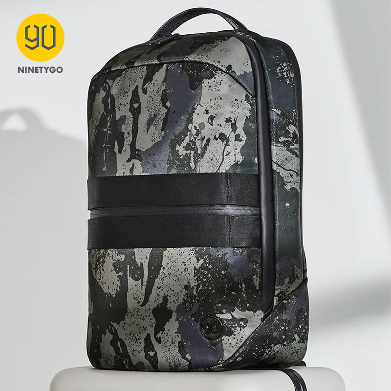 NINETYGO 90FUN NEW Manhattan Business Lecture Backpack For Men Modern Luxury Laptop Travel Mochila Camouflage Black