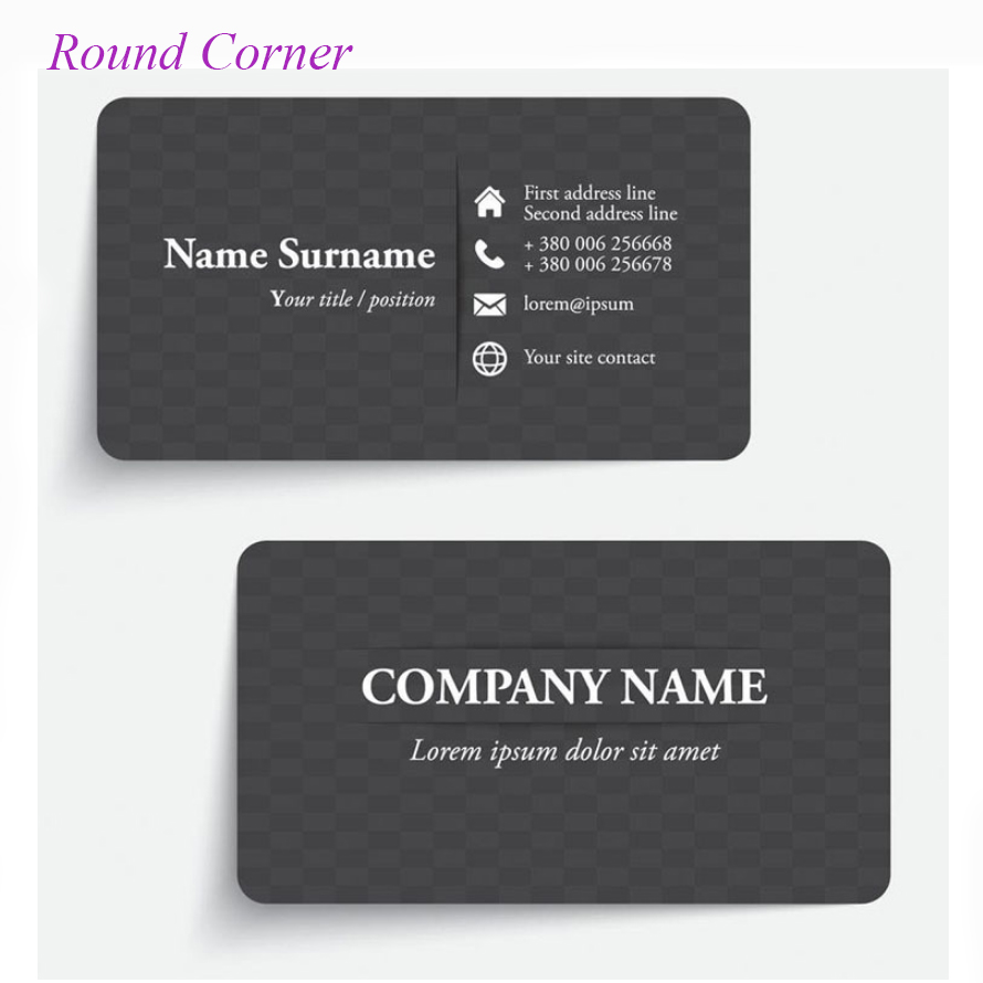 Free Design+free Print Round VIP Cards 200 Sheets Custom Business Cards Printing Calling Card Both Side Paper Visiting Card