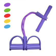 Multifunctional 4 Tubes Latex Foot Elastic Pull Rope Expander Muscle Fitness Workout Pedal Sports Equipment Resistance Bands New