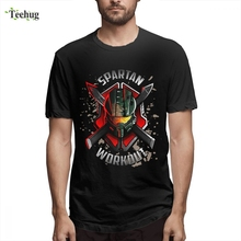 цена на Spartan Workout.png Top Tees 2019 New Arrival For Men 2018 New Streetwear Quality Cotton Tee Shirt For Boy