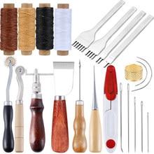 Kaobuy Professionele Leer Hobbygereedschappen Kit Hand Naaien Stiksels Punch Carving Werk Zadel Set Accessoires Diy Tool Set