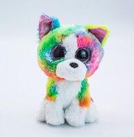 Neue Ty Beanie Großen Augen 6 zoll 15 cm Nette Farbige Schnauzer Healing Plüsch Spielzeug Stofftier Puppe Geburtstag Geschenk für Jungen und Mädchen
