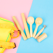 Toy Musical-Instruments-Set for Baby 6PCS Percussion Wood Educational Training Toddler