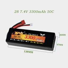 7,4 V 3300mAh T plug 50C LIPO аккумулятор жесткий автомобиль для радиоуправляемого автомобиля дрона запасные части