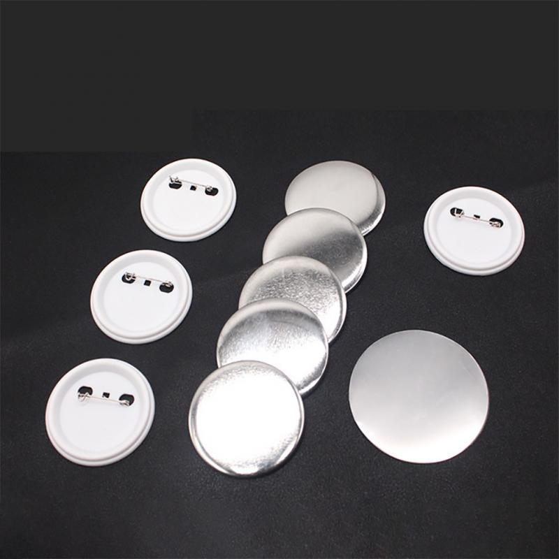 100Pcs 22/<font><b>44mm</b></font> White Plastic Badge <font><b>Button</b></font> Parts for <font><b>Pin</b></font> Maker Tinplat Badge Machine Handmade Needlework Material Accessories image