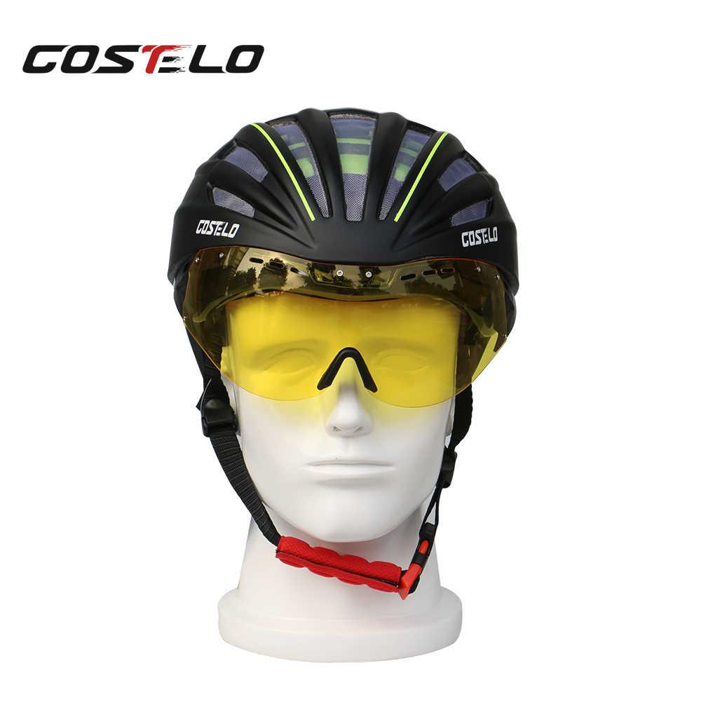 Costelo ขี่จักรยาน Lenes MTB Mountain Road หมวกนิรภัย Lenes จักรยาน Casco ความเร็ว Airo ฿ Ciclismo แว่นตา Bicicleta