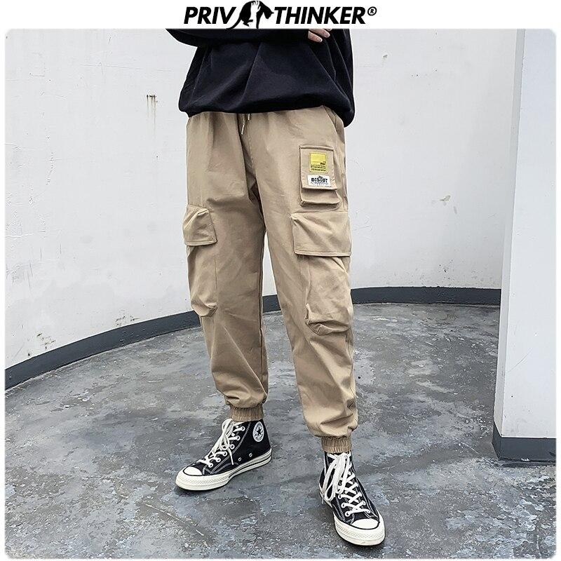 Privathinker Men's Autumn New Japan Style Harem Joggers Men Harajuku Sweatpant Hip Hop Trousers Male 2019 Fashion Oversize Pants