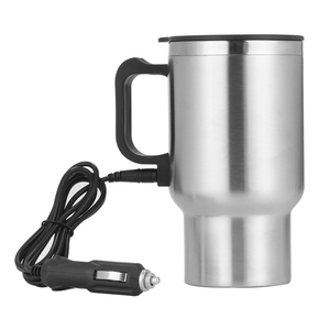 500ML 12V Portable Cup Kettle Travel Coffee Mug Electric Stainless Steel With Cigar Lighter Cable Car Water Keep Warmer Kettle(China)