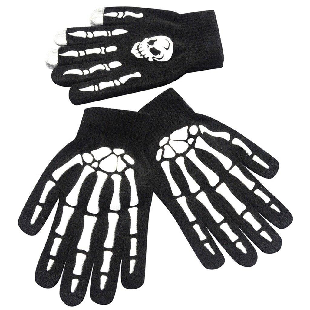 3D Animal Prints Non-Slip Sports Full Finger Men's Harajuku Gloves 1Pair Men Skull Bone Skeleton Goth Racing Mittens Guantes #2