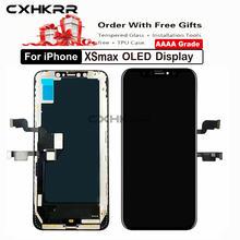 10 шт/класс aaa + для iphone xsmax oled экран замена сборка