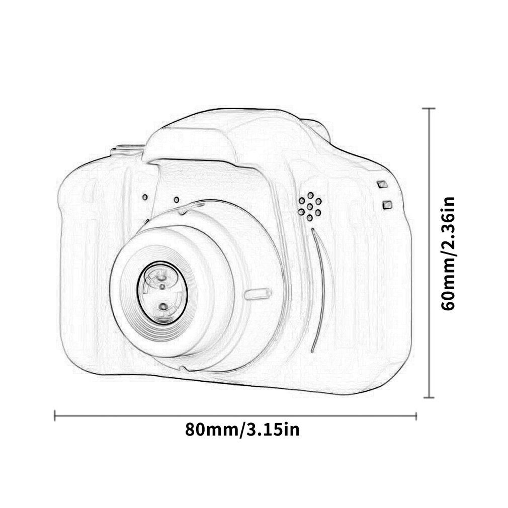 2 Inch Hd Screen Chargable Digital Mini Camera Kids Cartoon Cute Camera Toys Outdoor Photography Props For Child Birthday Gift Point Shoot Cameras Aliexpress