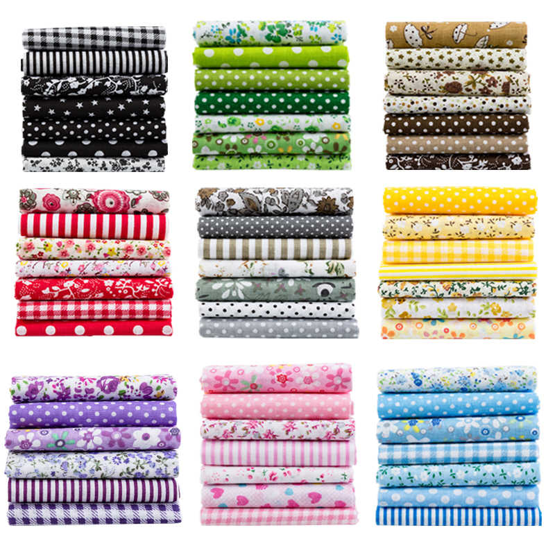 25x25cm and 10x10cm Cotton Fabric Printed Cloth Sewing Quilting Fabrics for Patchwork Needlework DIY Handmade Accessories T7866