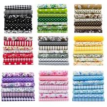 25x25cm o 10x10cm tela de algodón tela impresa costura telas acolchadas para retales costura DIY accesorios hechos a mano T7866