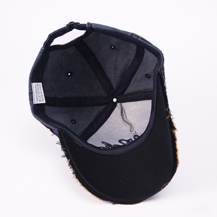 Image 4 - Hot Selling Letter Embroidery for Old Bullhead Baseball Cap Locomotive Washing Male and Female Duck Tongue Cap