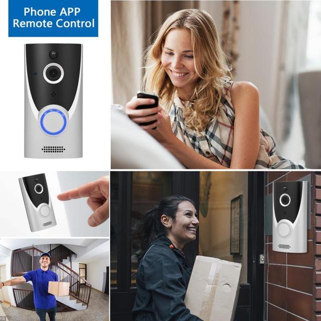 M16 HD bezprzewodowy inteligentny dzwonek Wifi wideodomofon dzwonek kamera domofon wizyjny IP dzwonek do drzwi bezpieczeństwo w domu kamera drzwiowa
