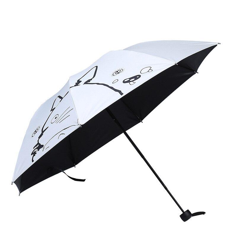 Cartoon San Totoro Creative Umbrella Vinyl Sun-resistant UV-Protection Folding Umbrella Advertising Umbrella Customizable Umbrel