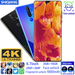 SOYES M60+ Mobile Phone Android Smart Unlock Face Fingerprint 6.7inch 2GB+16GB 5Point Touch Screen Smartphone