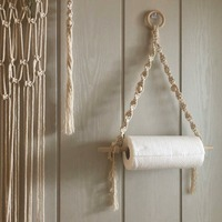 Ins Nordic Wall Hanging Wall Stick Rack Bedroom Living Room Decoration Hand-woven Macrame Wall Hanging