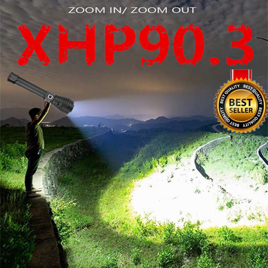 Brightest Aliexpress11.11 XHP90.3 most powerful led flashlight usb Zoom Tactical torch xhp70.2 18650 26650 Rechargeable battery