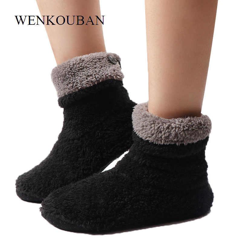 Kadın kapalı zemin ayakkabı ev terlik bayanlar sıcak kürklü slaytlar kış kapalı çorap ayakkabı yumuşak terlik Chaussures Femme