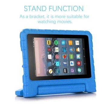 Para Amazon Fire 7 2019 cubierta de tablet de 7 pulgadas EVA a prueba de golpes Super cubierta de protección portátil mango de protección soporte funda bolsa