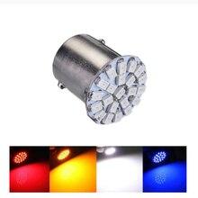 Ampoule de voiture led 100x, P21w s25 ba15s 1156 22 led smd 22smd, lumière blanche, livraison gratuite 12v/24v