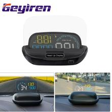 GEYIREN C600 Car Hud Head Up Display OBD Car Auto Overspeed Alarm Driving Computer Car Hud цена и фото