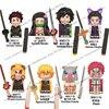 WM6116 Demon Slayer Building Blocks Mini Action toy Figure Assemble Toys dolls Tanjirou Nezuko Inosuke Giyuu Kyoujurou kids gift