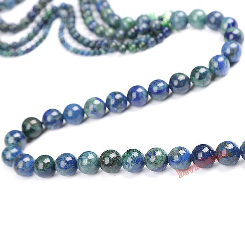 Fctory Preis Natürliche Lapislazuli Malachit Azurit Agat Stein Perlen Für Schmuck Machen Armband Halskette 4 6 8 10 12mm DIY