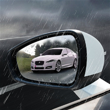 2 pcs Car Anti Fog Sticker Car Glass Rain Proof Film Car Side Window Rearview Mirror Exterior Mirror Sticker Car Accessories