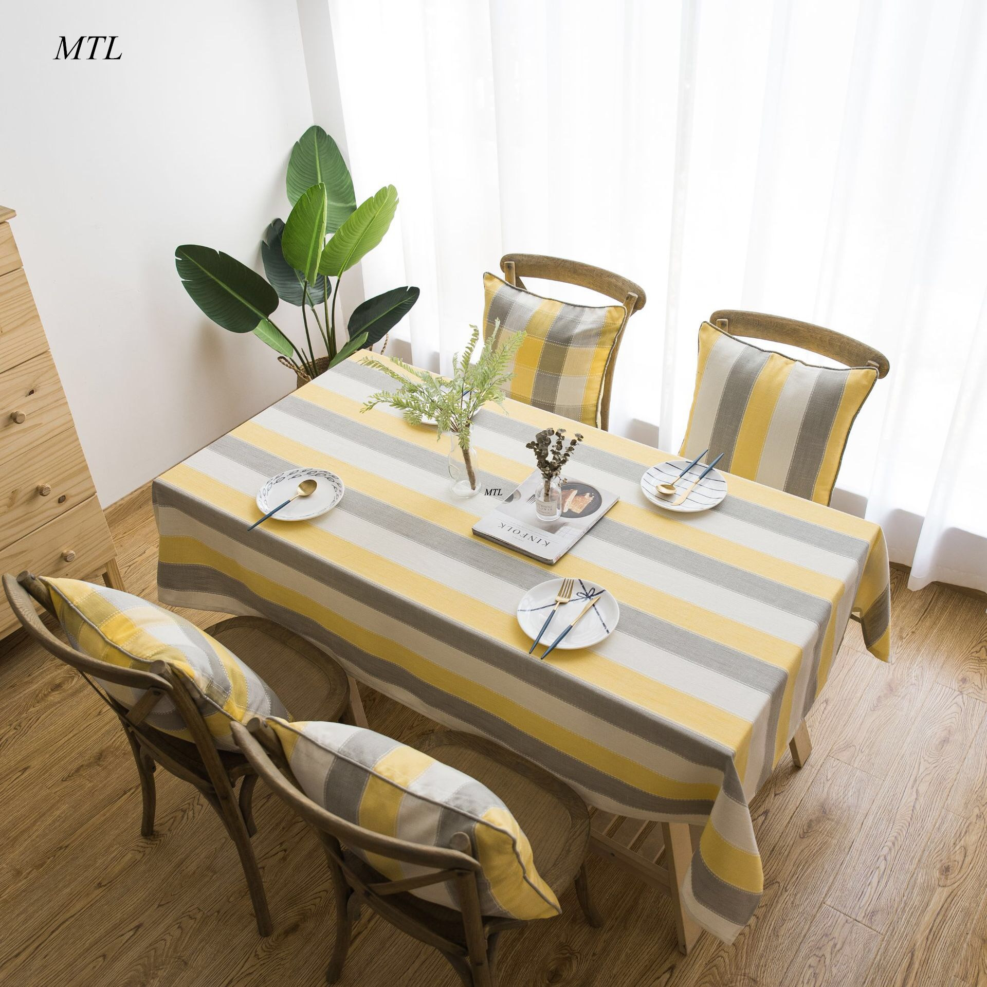 MTL striped waterproof <font><b>Coffee</b></font> Tablecloth <font><b>Table</b></font> cover tea <font><b>Table</b></font> cloth Piano Cover for Christmas Wedding Banquet <font><b>cafes</b></font> restaurants image