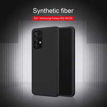 Voor Samsung Galaxy A52 5G Case Nillkin Synthetische Fiber Pc Plastic Back Cover Tpu Soft Case Voor Samsung A52 4G Telefoon Cover