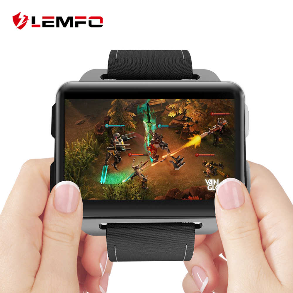 LEMFO LEM4 Pro 2.2 inch Big Screen Game Android Smart Watch 3G 1GB + 16GB Large Memory Smartwatch with 1.3MP Camera Video Call