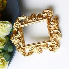 1 pieza de marco de mirilla de puerta de resina barroca rectangular Vintage, adorno para el hogar, recuerdo de boda 11,5x8,7x0,8 cm