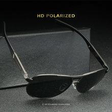 Aoron óculos de sol polarizados dos homens de metal aviação eyewear moda piloto uv400 óculos de sol