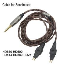 Remplacement pour Sennheiser, câbles Audio pour casque, hd416, HD650, HD600, HD580, HD565, HD545, HD535, HD525, HD265, HD25, 2020