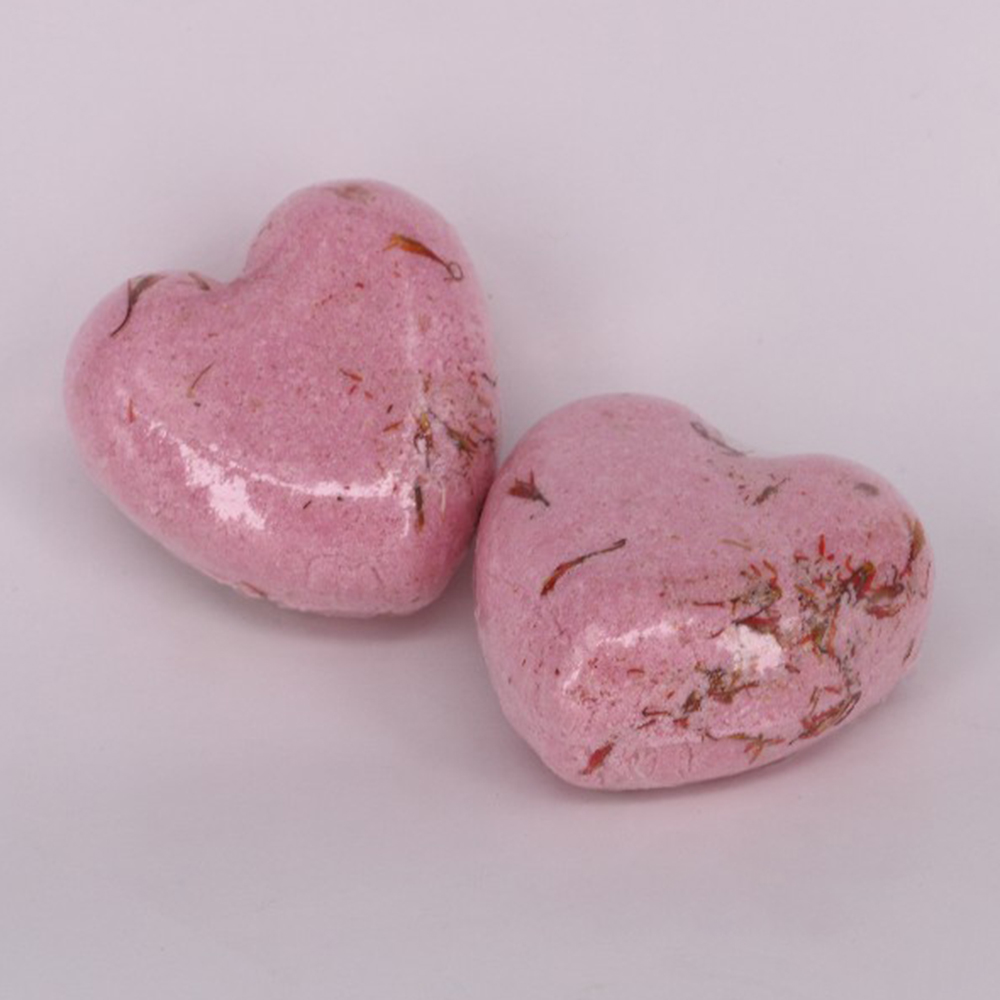60g Heart Bubble Bath Bomb Ball Sea Salt SPA Bath Explosive Salt Dried Flowers Series Of Effervescent Bath Salt Bomb