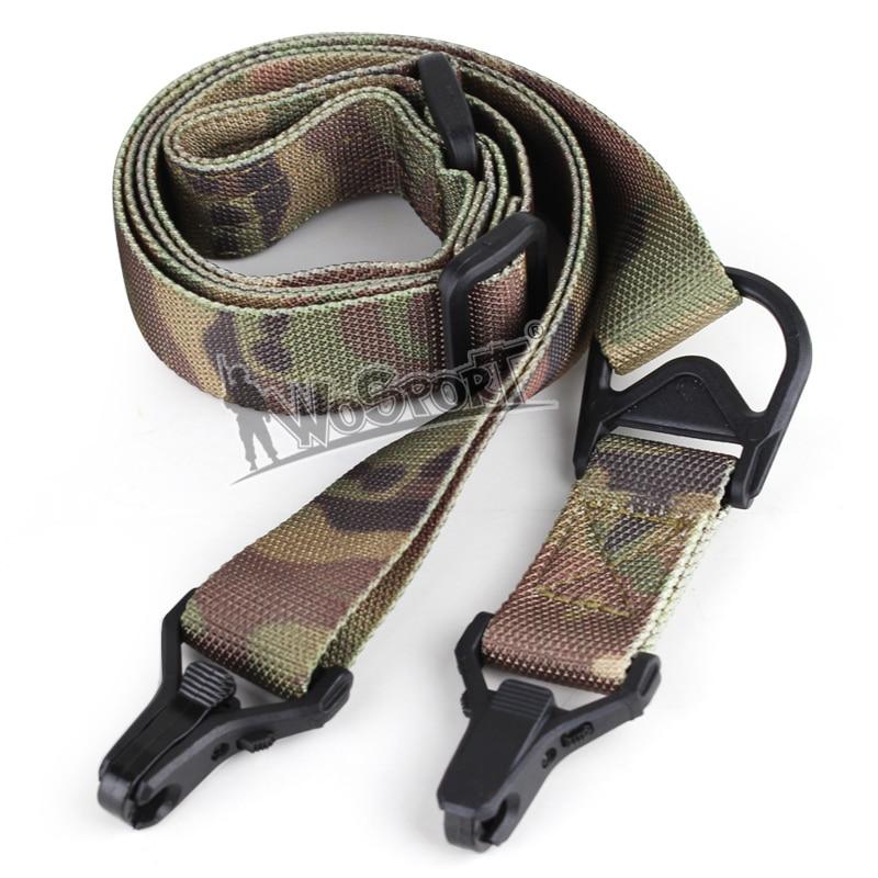 Wosport Cs Safety Nylon Oblique Shoulder Shoulder Two Point Gun SLR Outdoor Military Rope Multifunction Sling