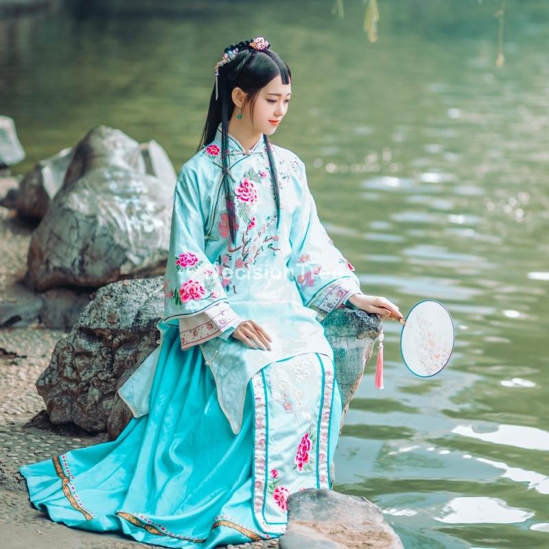 Disfraz chino de hanfu para mujer, vestido de cosplay de la serie de tv china, vestido de actuación en escenario de princesa, hanfu, 2021