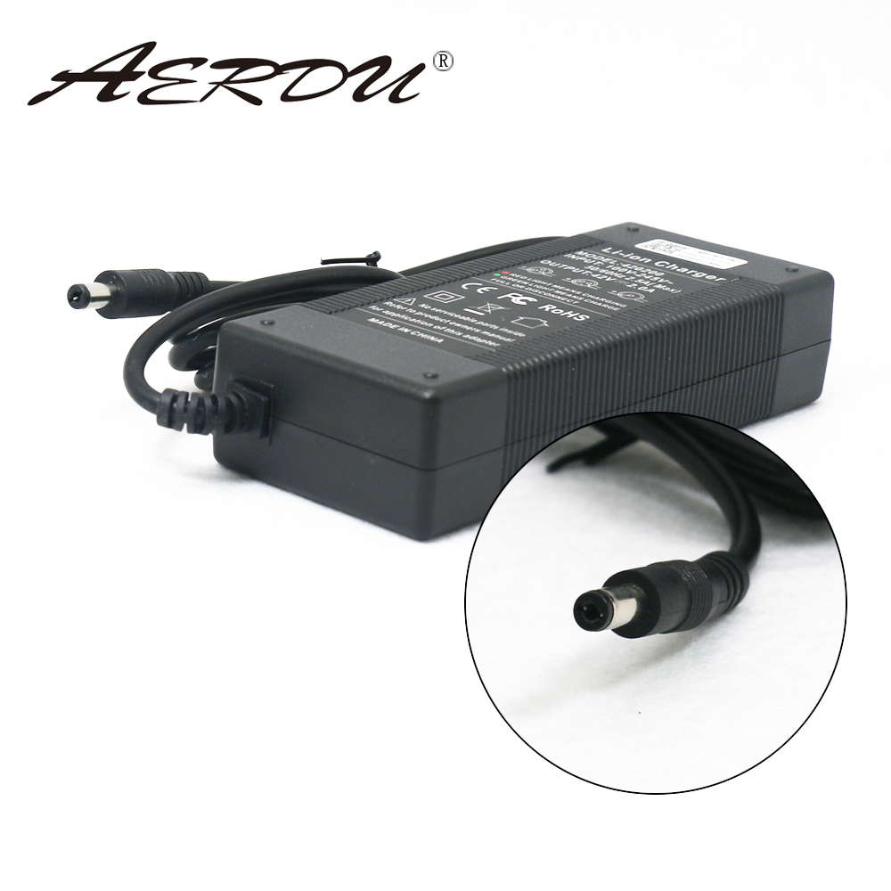 AERDU 42 10S V 2A 36V Lithium-ion battery pack charger Power Supply batterites AC 100- 240V Adaptador Conversor UE/EUA/AU/UK plug DC
