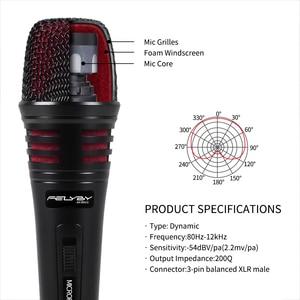 Image 2 - FELYBY ไมโครโฟนแบบไดนามิก Cardioid สายโลหะแบบใช้มือถือ MIC ปลั๊กและเล่นสำหรับคาราโอเกะการประชุม Speech Live
