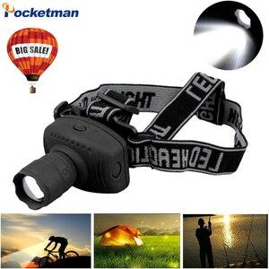 Image 1 - 2000 lumenów LED reflektor latarka o dużej mocy lampa czołowa czołówka z funkcją zoom latarka do roweru na Camping polowanie wędkarstwo